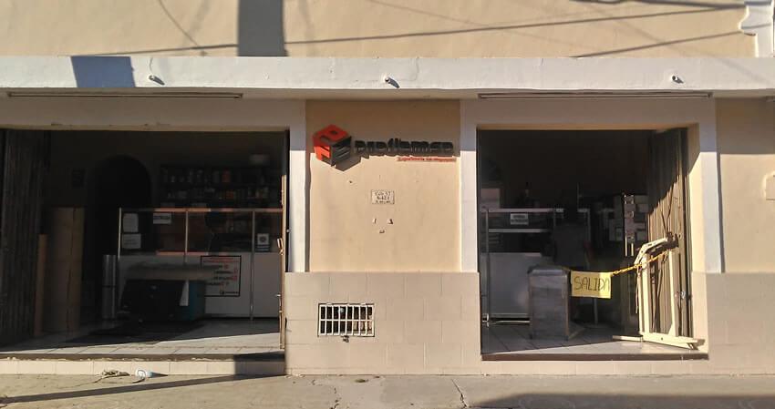 frente tienda proflemsa empaques merida